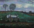 Landschaft mit Jauchewagen ∙ 1975 ∙ Öl auf Hartfaser ∙ 50 x 60 cm
