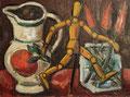 Stilleben mit Gliederpuppe ∙ 1986 ∙ Öl auf Malpappe ∙ 29,5 x 39,5 cm
