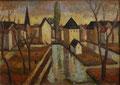 Erfurt - Krämerbrücke ∙ 1978 ∙ Öl auf Malpappe ∙ 30 x 42 cm