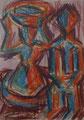 Afrikanische Figuren ∙ 1993 ∙ Farbstift ∙ 15 x 10,5 cm