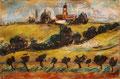 Landschaft mit Leuchtturm ∙ 2013 ∙ Farbstift, Pastell ∙ 15 x 22 cm