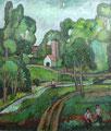 Landschaft Bauer-Wehrland ∙ 1969 ∙ Öl auf Hartfaser ∙ 70 x 60 cm