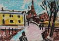 Straße in Ribnitz ∙ 2008 ∙ Pastell ∙ 14,8 x 21,4 cm