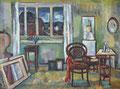 Atelier mit Fensterausblick ∙ 1971 ∙ Öl auf Hartfaser ∙ 60 x 80 cm