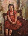 Kathrin im roten Kleid ∙1979 ∙ Öl auf Hartfaser ∙ 49 x 38,5 cm