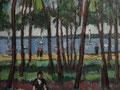 Salzhaff bei Rerik ∙ 1991 ∙ Öl auf Hartfaser ∙ 24 x 32 cm