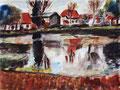 Häuser am Dorfteich ∙ Stolpe-Usedom ∙ 2011 ∙ 24 x 32 cm