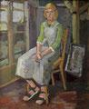 Mädchen im Atelier - Christina ∙ 1980 ∙ Öl auf Hartfaser ∙ 80,5 x 65 cm