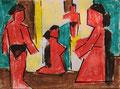 Komposition mit Badenden ∙ Ölkreide, Tusche ∙ 2006 ∙ 7 x 9,5 cm