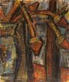Distelstilleben ∙ 1982 ∙ Mischtechnik ∙ 17,8 x 14,5 cm