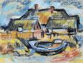 Fischerhaus am Bauerberg ∙ 2009 ∙ Pastell ∙ 28,5 x 37,7 cm