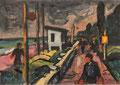 Promenade ∙ 1986 ∙ Mischtechnik ∙ 9,6 x 13,7 cm