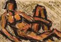 Akt ∙ 2009 ∙ Farbstift, Pastellkreide ∙ 10,5 x 14,8 cm