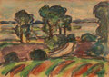Schleilandschaft bei Winning ∙ 1993 ∙ Pastell ∙ 10,5 x 15 cm