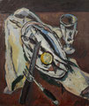 Stilleben mit Heringen ∙ 1986 ∙ Öl auf Hartfaser ∙ 40 x 34 cm