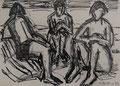 Drei Frauen am Strand ∙ 1993 ∙ Grafit, Tusche ∙ 12 x 16,8 cm