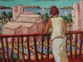 Blick vom Balkon - Peguera/Mallorca ∙ 1996 ∙ Öl auf Hartfaser ∙ 30 x 40 cm
