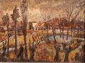 Fensterausblick auf Park - Kühlungsborn ∙ 1972 ∙ Öl auf Leinwand ∙ 30 x 40 cm