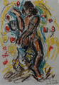 Indische Tänzerin I ∙ 2011 ∙Ölkreide ∙ 16,3 x 11,4 cm