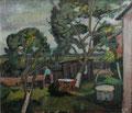 Garten Bastorf ∙ 1980 ∙ Öl auf Hartfaser ∙ 61 x 70 cm