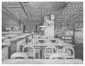 Ikea Schnelsen Cafeteria, 24 x 31 cm, Bleistift auf Papier, 2012