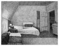 _Zimmer (Nacht), 24,0 x 31,3 cm, Bleistift auf Papier, 2005