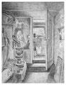 trottoir III, 31 x 24 cm, Bleistift auf Papier, 2011