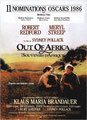 """Out of Africa - Souvenirs d'Afrique"" (1986) par LoveMachine"