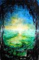 Vom Ufer der gezählten Möglichkeiten; 2011; 67 x 45 cm; Tusche, Airbrush auf Printpapier; 210 €
