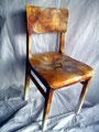 "Stuhl ""Slow Down""; Handbemalter Holzstuhl; Unikat; Acrylfarbe/Lasurtechnik auf Holz; Preis: 650 €"