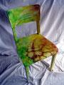 """Stuhl """"Phyto Art""""; Handbemalter Holzstuhl; Unikat; Acrylfarbe/Airbrush auf Holz"""