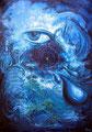 Astrale Expeditionen; 1998; 100 x 70 cm; Acryl auf Hartfaserplatte