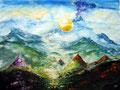 Fluss aus Licht; 2004; 50 x 65 cm; Gouache auf Papier; 350 €