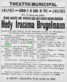 Konzert im Theatro Municipal in Rio de Janeiro, 6. Juni 1914 (A Noite, 5.6.1914)