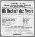 Hochzeit des Figaro, Düsseldorf, 12. Mai 1912 (Universitätsbibliothek Düsseldorf)