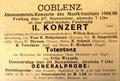 Totentanz, 27. November 1908, Coblenz (Rheinische Musik- und Theaterzeitung)