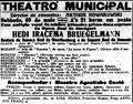 Konzert in Sao Paulo, Brasilien, 30. Mai 1914, Correiro Paulistano (Digital arquivo Público de Estado de Sao Paulo)