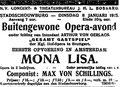 Mon Lisa, Amsterdam, 8. Januar 1918 (Koninklijke Bibliotheek, Den Haag)