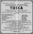 Tosca, Düsseldorf, 3. April 1912 (Universitätsbibliothek Düsseldorf)