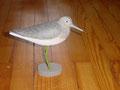 Chevalier aboyeur forme d'oiseau en bois peint