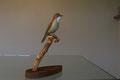 rousserolle effarvatte oiseau en bois peint