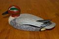 Blette de sarcelle d'hiver oiseau en bois peint