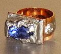 Citadel of happiness,ring,gold,aquamarine ,zircon