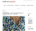 Ronja Primke in: textile art magazine. Online Magazin.