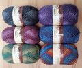 Ferner Wolle Lungauer Sockenwolle 4-fädig mit Baumwolle - herrlich weich, 57% Schurwolle, 25% Baumwolle, 18% Polyamid, Lauflänge 420m/50g, Schonwaschgang bis 40°