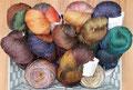 HPKY Merino Nylon Sock - handgefärbtes Sockengarn aus 75% Schurwolle (Merino superwash) und 25% Nylon (Polyamid) mit einer Lauflänge von 390m/100g, maschinenwaschbar im Schonwaschgang