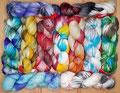 Feza Artist Sock - wunderbar weiches, handgefärbtes Garn aus 100% Schurwolle (Merino extrafine superwash), für Socken und andere Accessoires geeignet, Lauflänge 400m/100g, maschinenwaschbar im Schonwaschgang