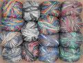 Opal Sockenwolle 4-fach History - ein Streifzug durch unsere Geschichte mit 8 umwälzenden Erfindungen, 75% Schurwolle (superwash) und 25% Polyamid, Lauflänge 425m/100g, Schonwaschgang bis 40°
