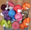 South Wool Merino Sock - handgefärbtes 4-fach Sockengarn aus Merinowolle, nicht nur für Strümpfe geeignet, 100% Schurwolle (Merino), Lauflänge 399m/100g, Handwäsche empfohlen