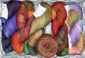 HPKY Donegal Sock - handgefärbtes Sockengarn in Donegal-Tweed-Optik, 100% Schurwolle (Merino superwash), Lauflänge ca. 420m/100g